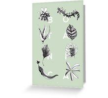 Botanica Letters | Mint Greeting Card
