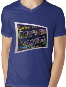 Greetings from 'Mystic Caves'! Mens V-Neck T-Shirt
