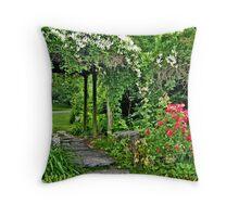 Garden Arbor at the New Jersey Botanical Garden Throw Pillow