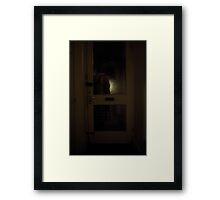 Standing By The Door Framed Print