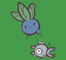 oddish bouncing on magnemite by 10naruto23