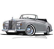 Rolls-Royce Silver Cloud III Mulliner Drophead Silver Photographic Print