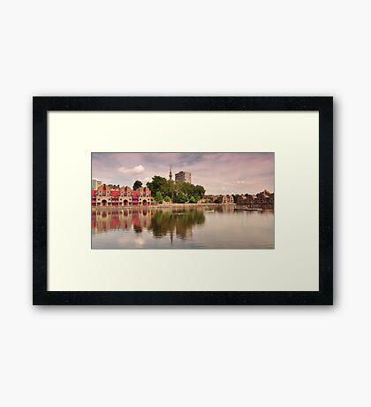 Shadwell Basin; London Docks Framed Print
