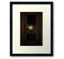 Sitting By The Door Framed Print
