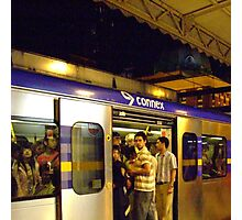New Year's Eve - Overcrowded Train Ride Home Photographic Print