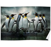 Penguins at Bourton Poster