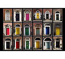 Georgian doors of Dublin Photographic Print