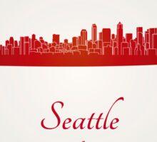 Seattle skyline in red Sticker