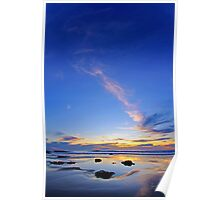 Blue Sunset on Cable Beach Poster