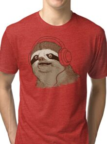 What is a sloths favourite music? Tri-blend T-Shirt