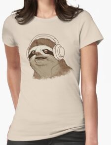 What is a sloths favourite music? Womens Fitted T-Shirt