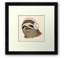 What is a sloths favourite music? Framed Print