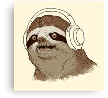 What is a sloths favourite music? Canvas Print