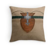 Bike Hunter Throw Pillow