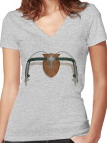 Bike Hunter Women's Fitted V-Neck T-Shirt