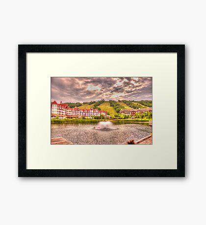Blue Mountain - HDR - 2 Framed Print
