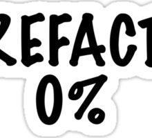 CareFactor 0% Sticker
