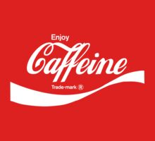 Enjoy Caffeine (red) - geek t-shirt by geekuniverse