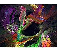 Fractal - Owl Swooping Photographic Print
