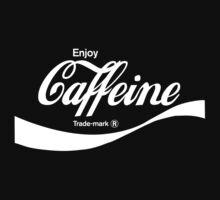 Enjoy Caffeine (black) - geek t-shirt by geekuniverse