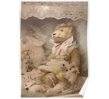 Teddybears in lace Poster