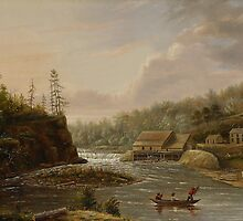 Cheever's Mill on the St. Croix River, 1847 by Bridgeman Art Library