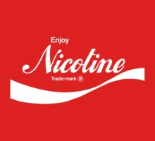 Enjoy Nicotine (red) - geek t-shirt by geekuniverse