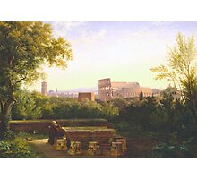 View of the Colosseum from the Orti Farnesiani, 1833 Photographic Print