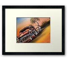 Rusting Time Machine Framed Print
