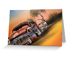 Rusting Time Machine Greeting Card