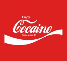 Enjoy Cocaine (red) - geek t-shirt by geekuniverse