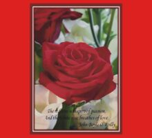 Whispers of Passion and Love Red Rose Greeting Card One Piece - Long Sleeve