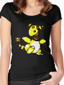 Ampharos Retro Women's Fitted Scoop T-Shirt