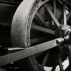 Steam Tractor Drive Wheel by Fotomus-Digital