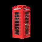 Red Telephone Box iPhone by Catherine Hamilton-Veal  