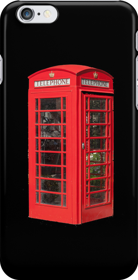 Red Telephone Box iPhone by Catherine Hamilton-Veal  ©