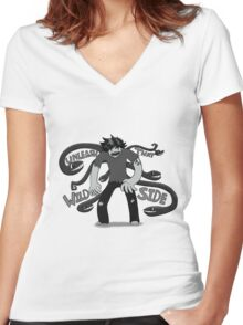 Unleash That Wild Side Women's Fitted V-Neck T-Shirt