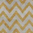 silver and gold chevron by beverlylefevre