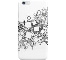 Number One Box - Sketch Pen & Ink Illustration Art iPhone Case/Skin