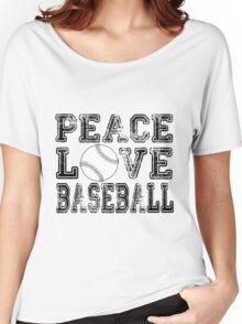 Peace, Love, Baseball Women's Relaxed Fit T-Shirt