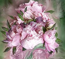 Pink Peony Bouquet by Carol  Cavalaris
