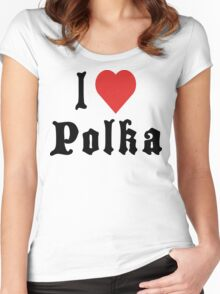 I Love Polka Women's Fitted Scoop T-Shirt
