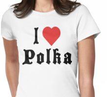 I Love Polka Womens Fitted T-Shirt