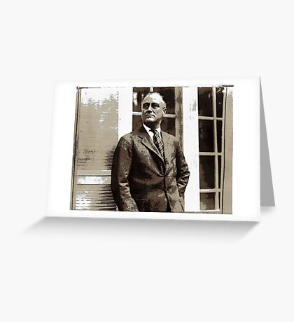 All The President's Heads #4 - FDR Greeting Card