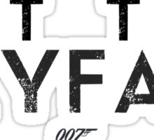 Let The Skyfall - Lyric Shirt Sticker