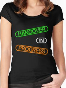 Hangover In Progress Women's Fitted Scoop T-Shirt