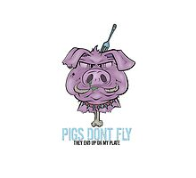 Pigs Don't Fly iPhone Case by Seb Rosa