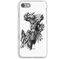 Rock Facade - Sketch Pen & Ink Illustration Art iPhone Case/Skin