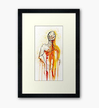 CREEPER IN RED Framed Print