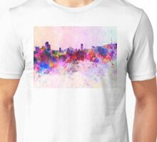 Seoul skyline in watercolor background Unisex T-Shirt
